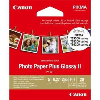 Papier photo carré Canon 20 feuilles