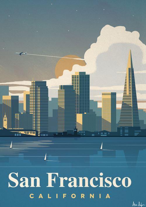 Affiche Sergeant Paper San Francisco 50x70 cm Edition limitée signée