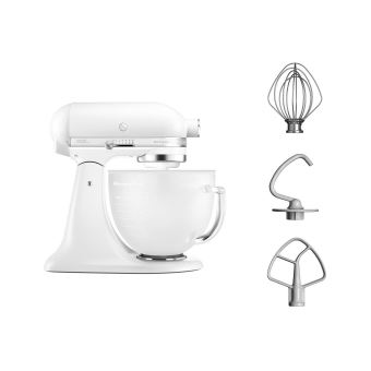 KitchenAid Artisan 5KSM156EFP - robot pâtissier - 300 Watt - perle givrée