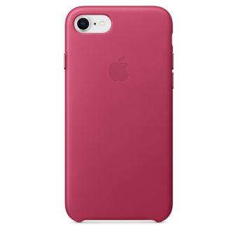 Coque en cuir Apple Fuchsia pour iPhone 7 et 8