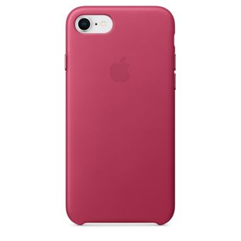 APPLE IPHONE 8 / 7 LEATHER CASE PINK FUCHSIA