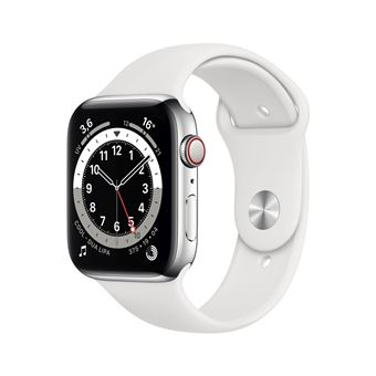 Photo de apple-watch-series-6-44mm-boitier-acier-argent