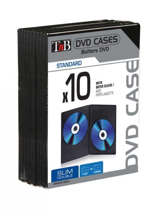 Pack de 10 boîtiers DVD Slim Doubles T'nB Noir
