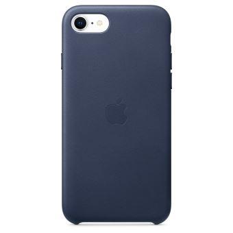 Coque en cuir Apple Bleu Nuit pour iPhone SE 2020