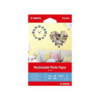 Papier photo recollable Canon RP-101 5 feuilles