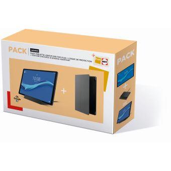Pack Tablette tactile Lenovo Tab M10 FHD Plus 10.3'' 4 Go RAM 128 Go SSD Wifi Gris + Coque de protection + Station d'accueil Noir