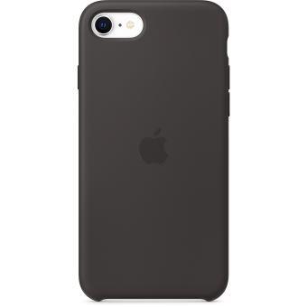 Coque en silicone Apple Noir pour iPhone SE 2020
