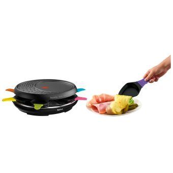 Raclette Tefal Colormania avec 8 tasses 1050 W Noir