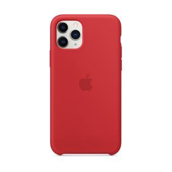 Coque en silicone pour iPhone 11 Pro Rouge