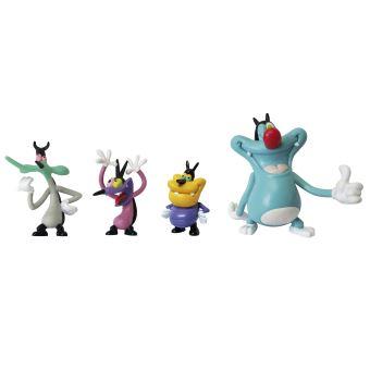 pack 4 figurines oggy et les cafards lansay neuf