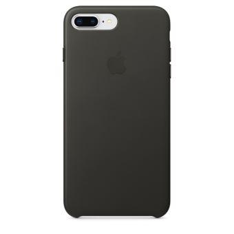 Coque en cuir Apple Anthracite pour iPhone 7 Plus et 8 Plus