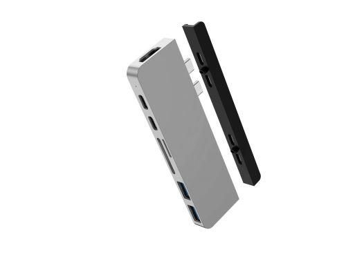 Hub USB-C 7 en 2 Argent HyperDrive Duo pour MacBook Pro