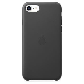 Coque en cuir Apple Noir pour iPhone SE 2020