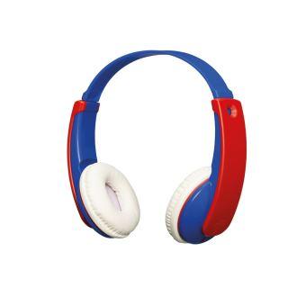 JVC HA-KD9BT-A-E Draadloze Hoofdtelefoon voor kinderen Blauw en Rood
