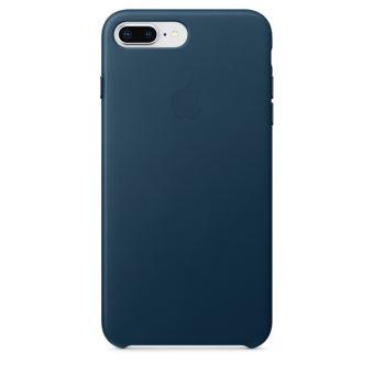 Coque en cuir Apple Bleu Cosmos pour iPhone 7 Plus et 8 Plus