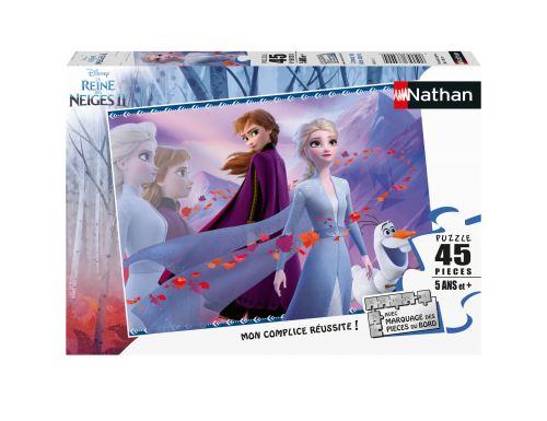 Puzzle 45 pièces Nathan L'amour de deux sœurs Disney La Reine des Neiges 2