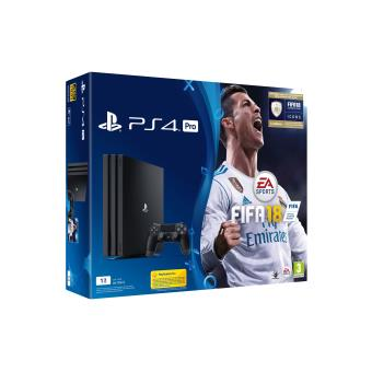 pack console sony ps4 pro 1 to noire fifa 18 console de jeux achat prix fnac. Black Bedroom Furniture Sets. Home Design Ideas