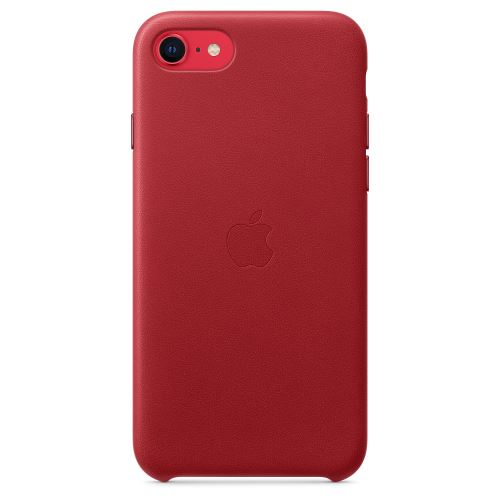 Coque en cuir Apple Rouge pour iPhone SE 2020