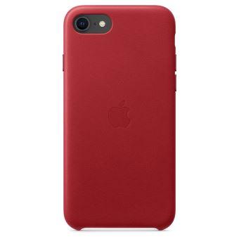 Coque en cuir Apple Rouge pour iPhone SE 2020