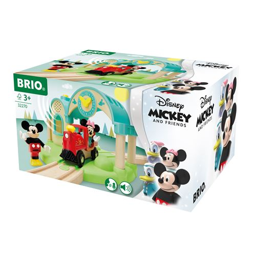 Gare à enregistreur vocal Brio Mickey Mouse