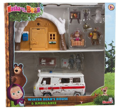Coffret hutte d'hiver et ambulance Masha Simba