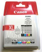 Pack Cartouches Canon Noir PGI-570XL et Couleurs CLI-571PGBK CMYBK