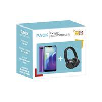 Pack Smartphone Honor 10 128 Go Bleu + Casque Bluetooth X60