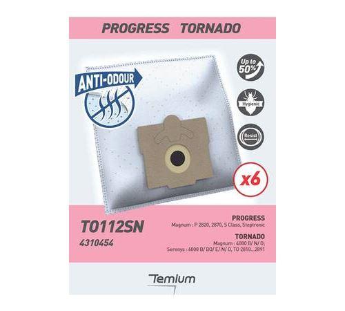 Pack de 6 sacs pour aspirateur Temium Anti-odeur TO112SN