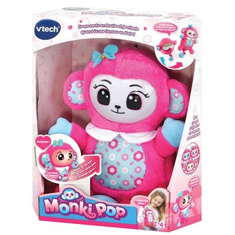 Peluche Interactif Vtech Monki Pop Fleur Rose