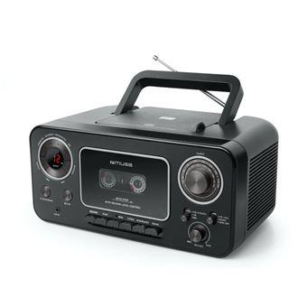 Radio Lecteur CD Muse M-182 RDC Noir avec enregistreur de cassette