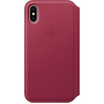 Étui folio en cuir Apple Baie pour iPhone X
