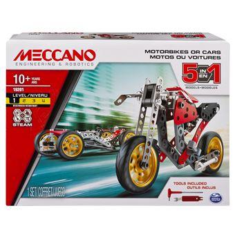 Jeu de construction Meccano Voiture et moto 5 modèles