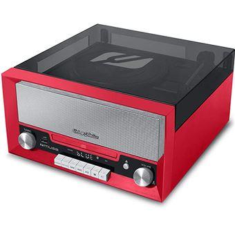 CD Muse MT-110 RD Microsysteem Rood en Zwart met Vynil Plaat