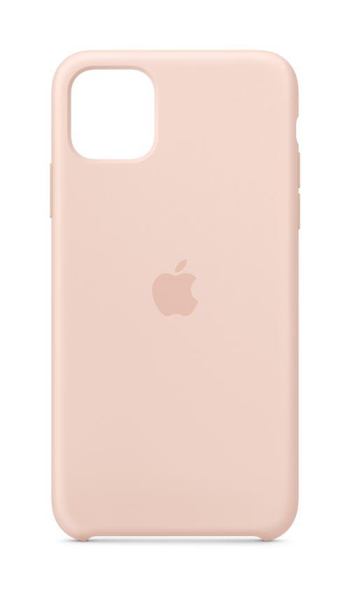 Coque en silicone pour iPhone 11 Pro Max Rose des sables