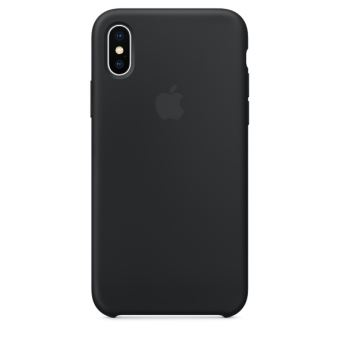 Coque en silicone Apple Noire pour iPhone X