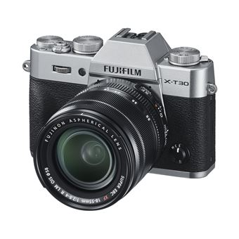 Hybride Fujifilm X-T30 Argent + Objectif XF 18-55 mm f/2.8-4