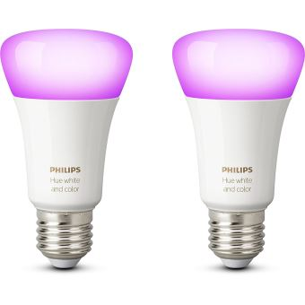 Pack Fnac 2 ampoules connectées Philips Hue White and Color E27