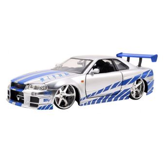 mod le r duit en m tal voiture fast furious 1 24 brian 39 s nissan skyline gt r r34 jada. Black Bedroom Furniture Sets. Home Design Ideas