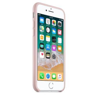 coque iphone 8 silicone rose des sable