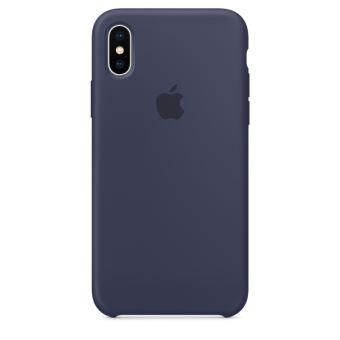 Coque en silicone Apple Bleu nuit pour iPhone X