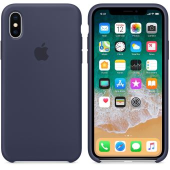 coque silicone bleu iphone x