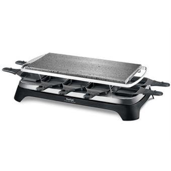 appareil raclette pierrade tefal pr457812 pour 10 personnes pierre naturelle achat prix. Black Bedroom Furniture Sets. Home Design Ideas