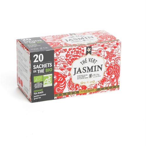20 infusettes Thé bio au jasmin