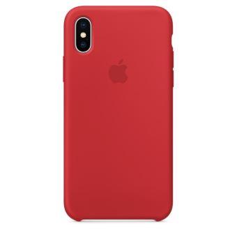 Coque en silicone Apple Rouge pour iPhone X