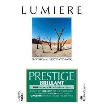 Papier photo Lumière Prestige Brillant 10 x 15 cm - 100 feuilles