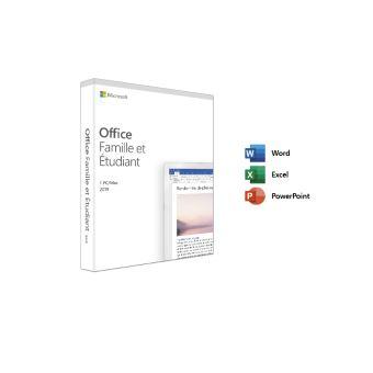 Microsoft Office Famille et Etudiant 2019 - 1 PC ou Mac