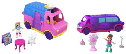 Playset véhicule avec poupée Polly Pocket Pollyville Modèle aléatoire