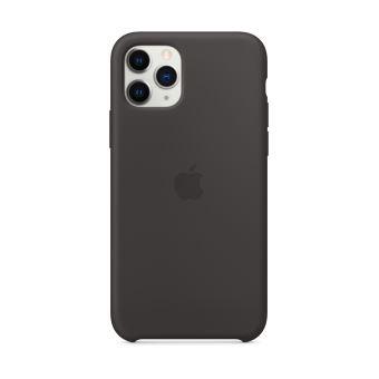 Coque en Silicone pour iPhone 11 Pro Noir
