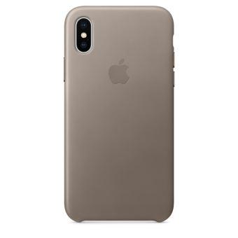 Coque en cuir Apple Taupe pour iPhone X