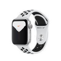 Apple Watch Nike Series 5 GPS 40 mm zilveren aluminium behuizing met sportarmband Nike zwart en platina - Reserveer - Binnenkort leverbaar